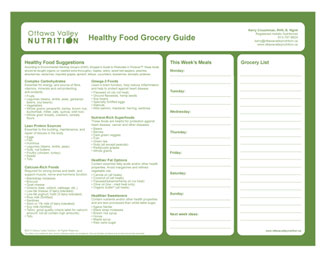 Healthy Food Grocery Guide